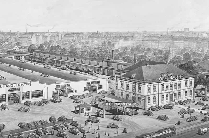 Autohaus Häusler, München vor 150 Jahren