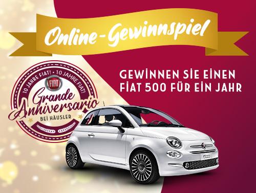 Fiat 500 Gewinnspiel